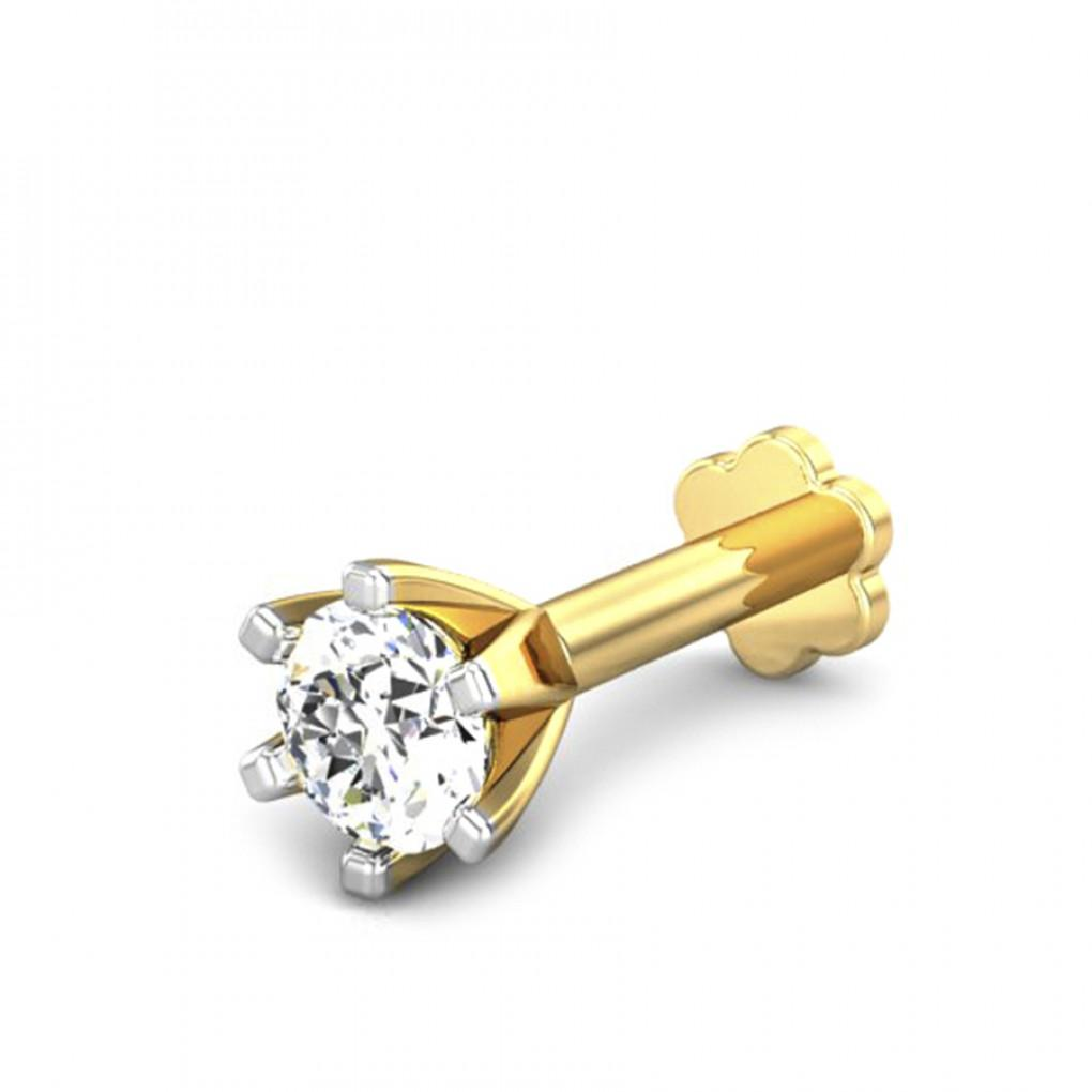 0 15ct Diamond Nose Pin Online Jewellery Shopping India Yellow
