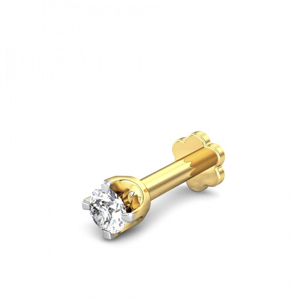 0 07ct Florencia Diamond Nose Pin Online Jewellery Shopping India