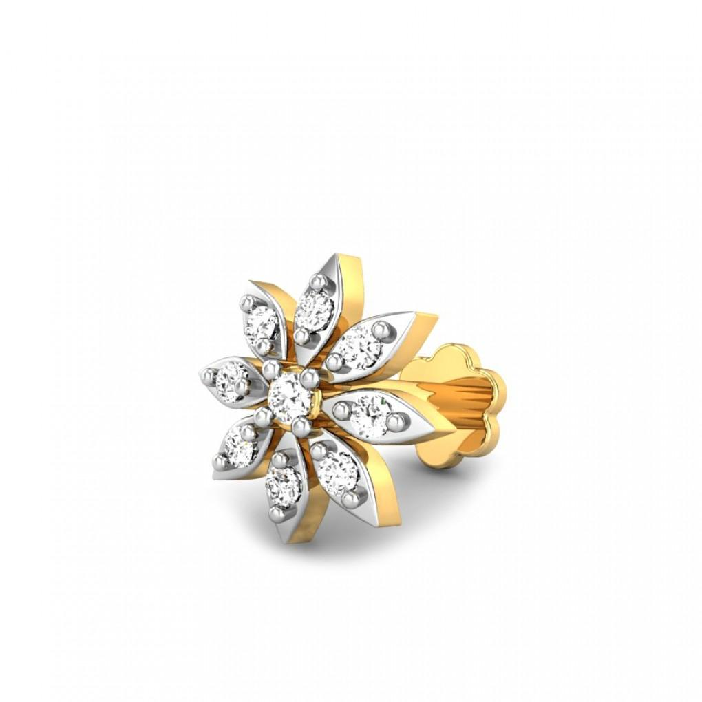 Shelby Diamond Nose Pin Online Jewellery Shopping India Yellow