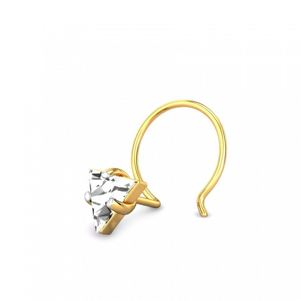 The Triangle Diamond Nose Pin Online Jewellery Shopping India