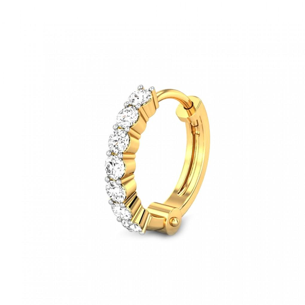 Barbi Diamond Nose Ring Online Jewellery Shopping India Yellow Gold 18k Candere By Kalyan Jewellers