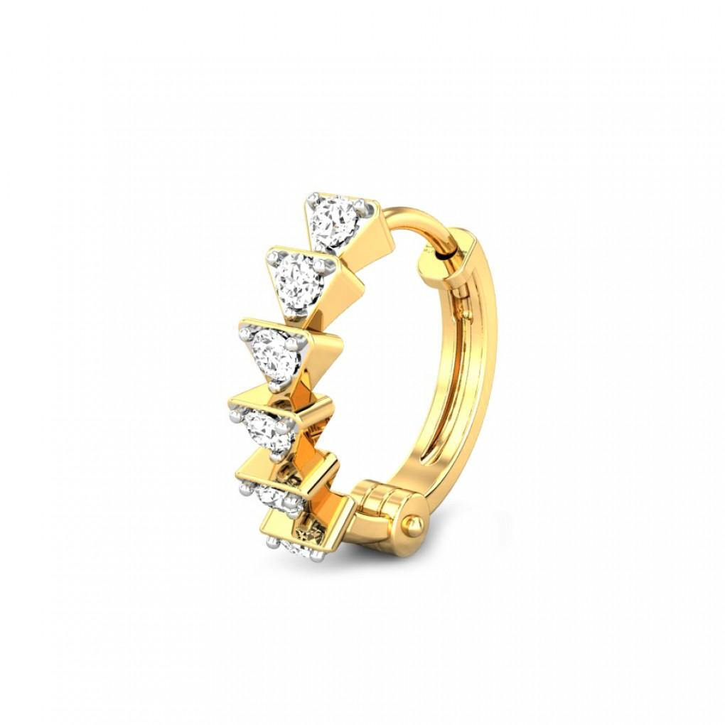 Enya Diamond Nose Ring Online Jewellery Shopping India Yellow Gold 18k Candere By Kalyan Jewellers