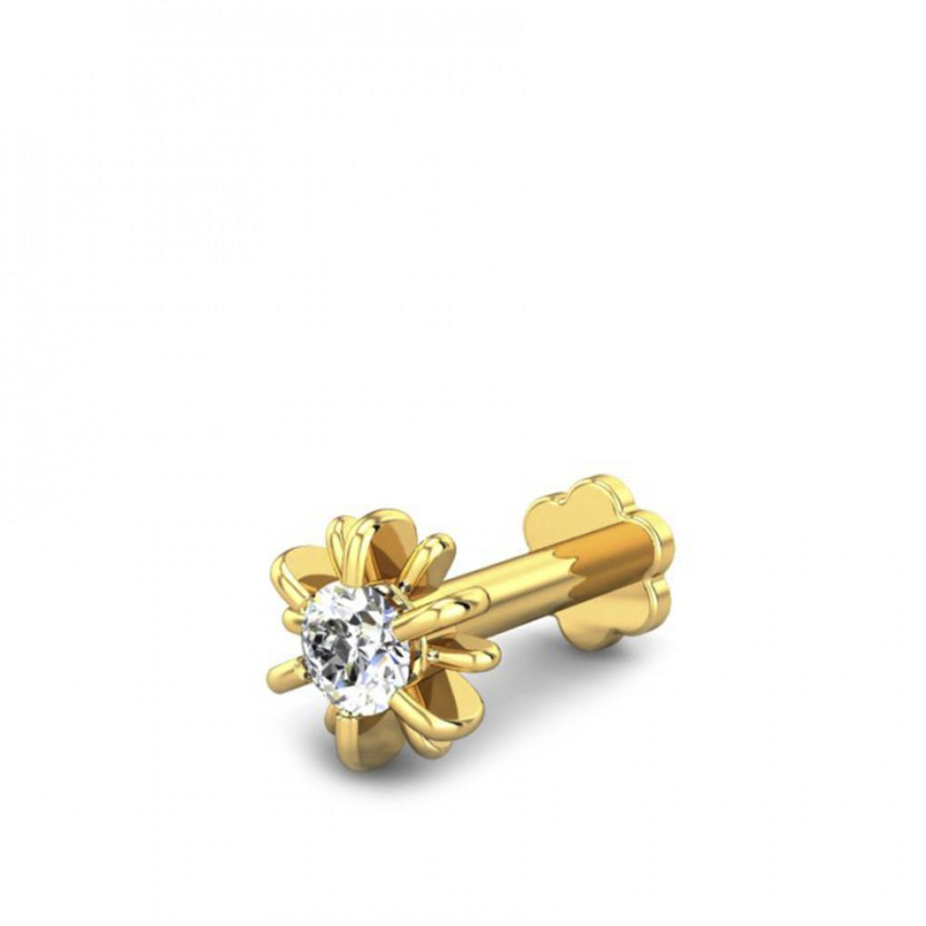 Siva Diamond Nose Pin Online Jewellery Shopping India Yellow Gold 18k Candere By Kalyan Jewellers