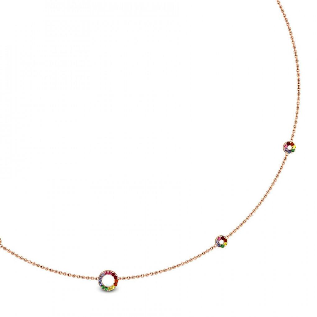 Perfectly Flawed Cubic Zirconia Gold Necklace Online Jewellery Shopping India Rose Gold 14k Candere By Kalyan Jewellers