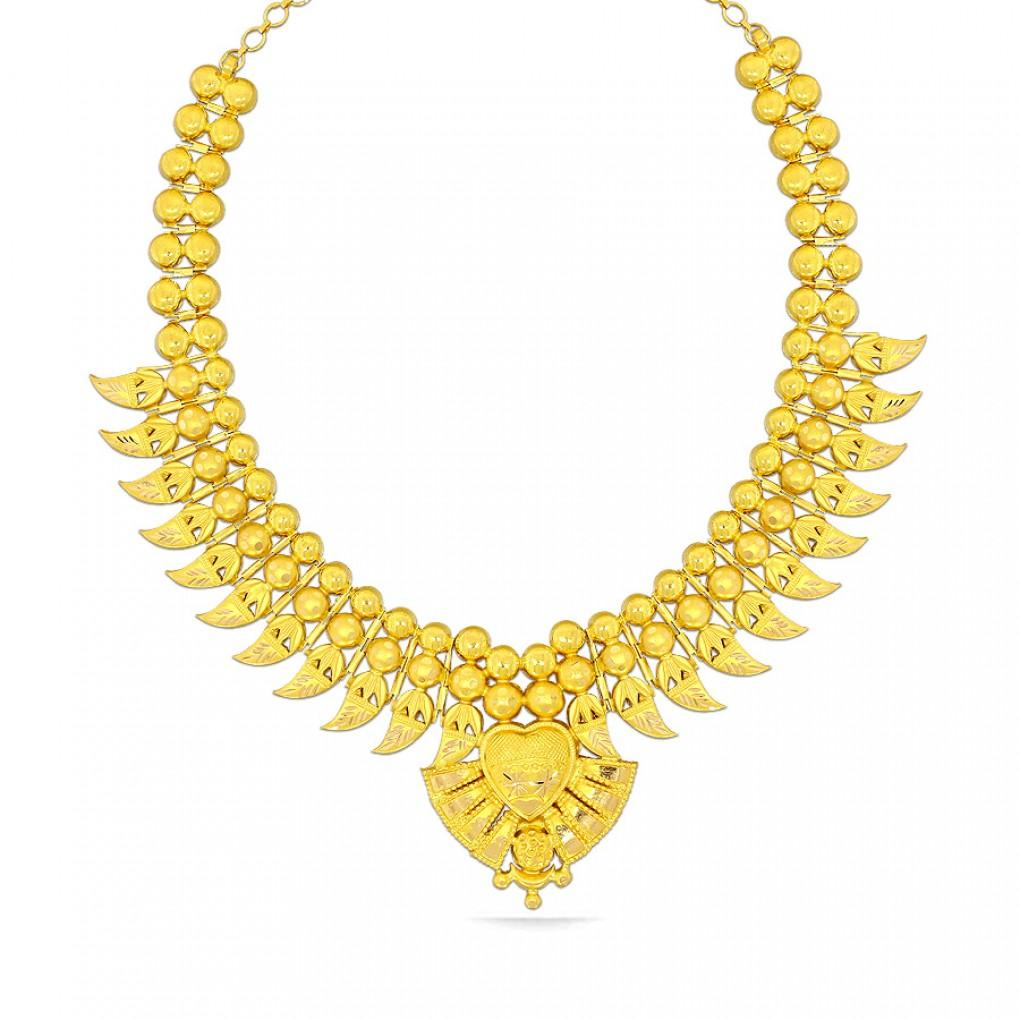 Suhaila Kyra Gold Necklace Online Jewellery Shopping India Yellow Gold 22k Candere By Kalyan Jewellers