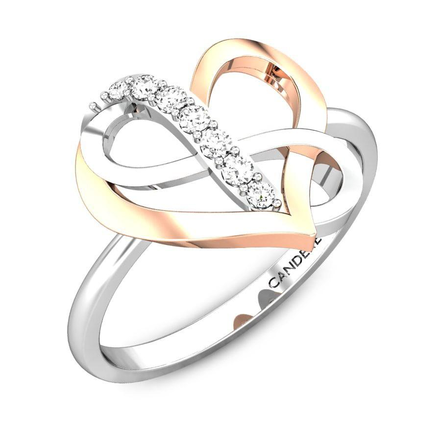 Immortal Love V Day Diamond Ring Online Jewellery Shopping India