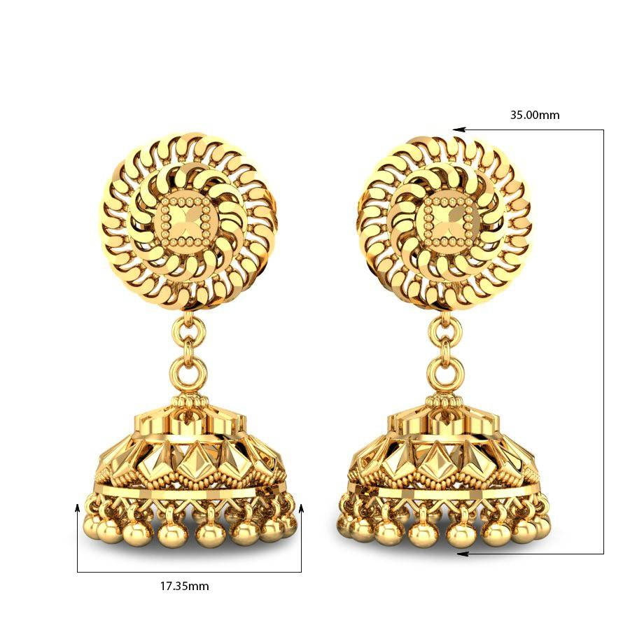 Dristi Gold Jhumka Online Jewellery Shopping India Yellow Gold
