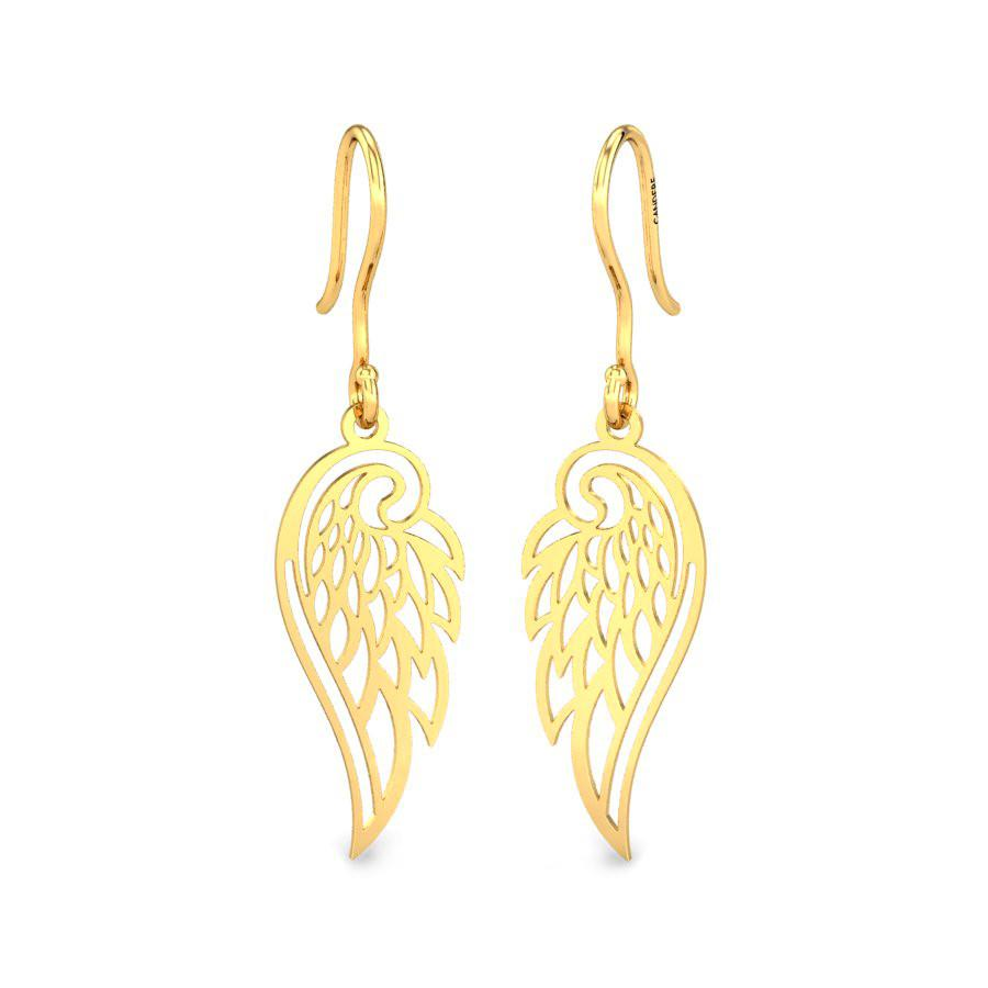 Wings Of Fashion Gold Earrings Online Jewellery Shopping India