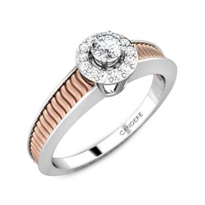 Cupid Love Gold Silver Diamond Ring