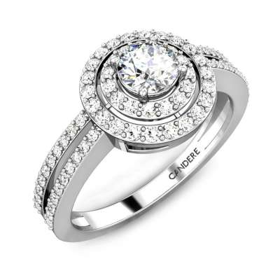 Cornflower Solitaire Diamond Ring