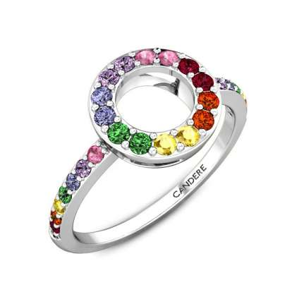 Colourful Gal Cubic Zirconia Gold Ring