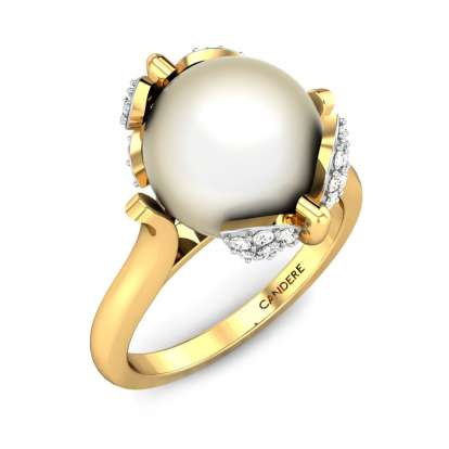 Vanessa Butterfly Pearl Ring