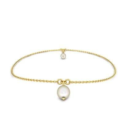 Pial Gold Anklet with Pearl