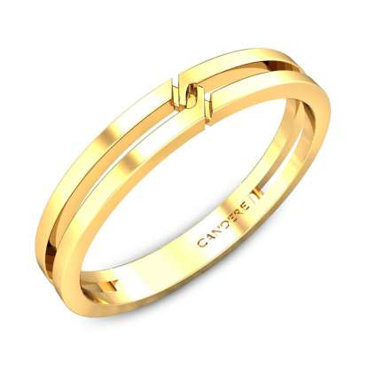 Johny Gold Wedding Band for Her